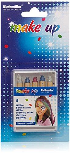 Riethmüller 5713, Set di matite da trucco glitterate, 5 pz.