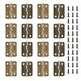 Bisagras de latón pequeñas para puertas y cajones, 50 unidades