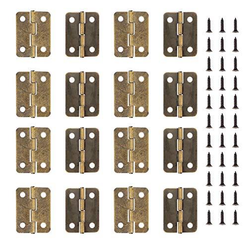 Mini cerniere in ottone a scomparsa per armadio, cassetto, porta, cassapanca, 50 pezzi