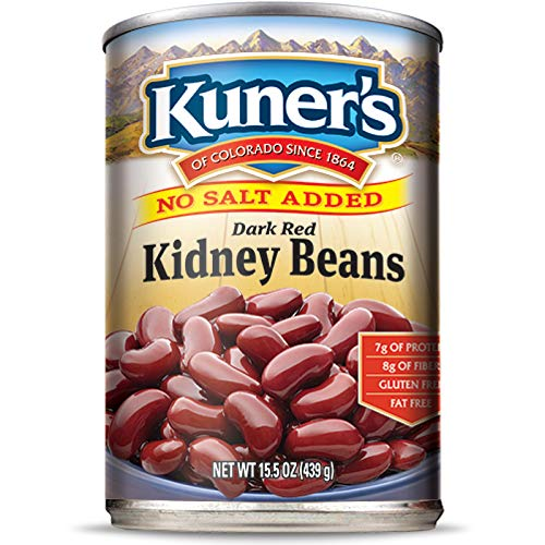 Kuner's • Canned Kidney Beans (12 Pack), No Salt Added, Vegan, Non-GMO, Natural Gluten-Free Bean, Sourced and Packaged in the USA,15 Ounce Can