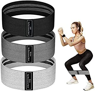 Resistance Bands for Legs and Butt, JR INTL Fabric Workout Bands, Exercise Resistance Bands, Women/Men Stretch Exercise Lo...