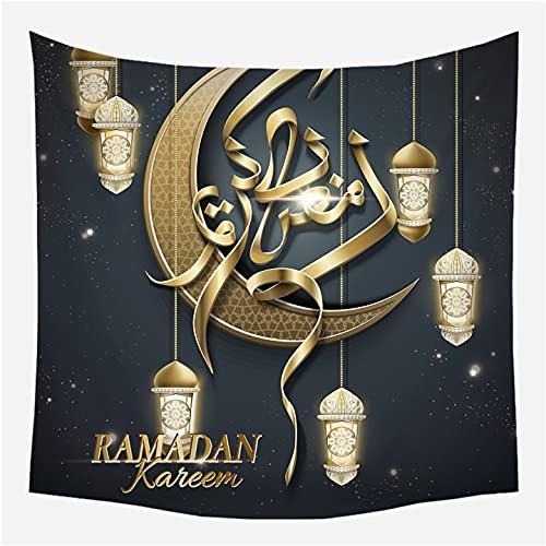 KHKJ Tapiz de Ramadán para Colgar en la Pared, Manta de Viaje, Toalla de Playa, servilleta Salvaje, nuevos tapices de Pared Decorativos de Granja Moderna, A6, 200x150cm