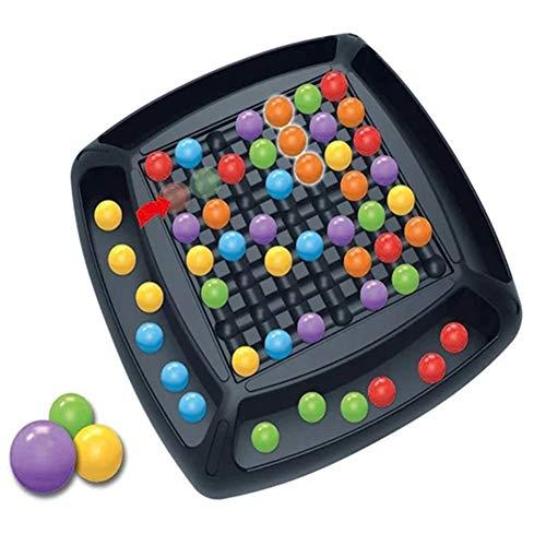 Sansund Regenbogen-Ball-Eliminations-Spiel, Regenbogen-Puzzle, magisches Schach, Spielzeug-Set für Kinder, lustiges Familien-Tischbrettspiel