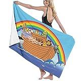 Toallas Baño Ultra Suave de Manta de Secado rápido El Arca con Animales Divertidos y Lindos Delfines Nadando en diseño artístico Toalla Playa Sábana de Viaje Camping Deportes Personalizados