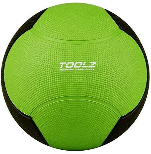 TOOLZ Medizinball 2kg Fitnessball aus Gummi Gymnastikball mit griffiger Oberfläche - optimal für Krafttraining