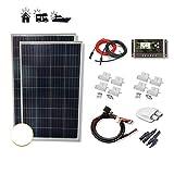VIASOLAR Kit 200W Eco 12V Panel Solar 2X100W