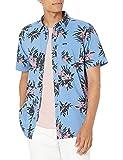 Volcom Floral with Cheese Short Sleeve Button Down Shirt Camisa Abotonada, Bolígrafo Azul, XL para Hombre