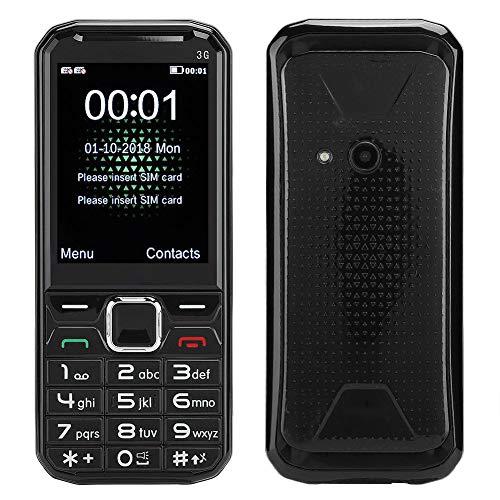 Teléfono móvil con botón Grande, 2,4 Pulgadas 3G teléfono móvil con desbloqueo Gratuito con gsm Dual SIM SoporteTarjeta de Memoria de 32 GB para Personas Mayores(Negro)