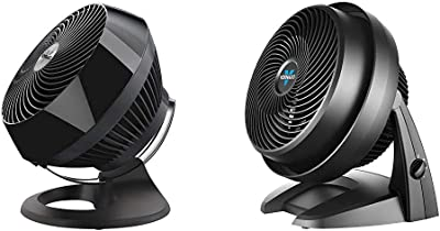 Vornado 660 Large Whole Room Air Circulator Fan with 4 Speeds and 90-Degree Tilt, 660-Large, Black & 630 Mid-Size Whole Room Air Circulator Fan