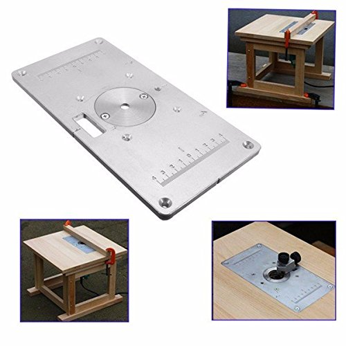 Doradus 235mm x 120mm x 8mm Aluminum Router Table Insert Plate For Woodworking