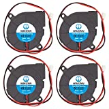 WINSINN 50mm Blower Fan 24V 5015 Dual Ball Bearing 50x15mm Turbine Turbo Brushless - Quiet (Pack of 4Pcs)