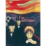 Edvard Munch Anxiety Large Art Print Poster Wall Decor