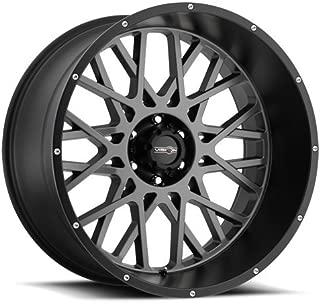 VIS-VOR 4 Vision 412 Rocker 20x9 5x5.5 +12mm Black/Grey Wheels Rims 20