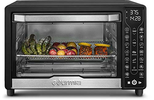 Gourmia GTF7450 17-in-1 Multi-function, Digital Air Fryer Oven - 17 Cooking Presets - Fry Basket, Oven Rack, Baking Pan & Crumb Tray, Included + Recipe Book