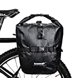 Selighting Bolsa Alforja Trasera para Bicicleta 20L, Grande Bolsa Bicicleta Multifunción Carretera MTB Bicicleta de Montaña (Negro)