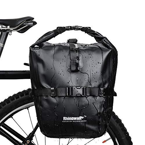 BAIGIO Borsa per Bicicletta Impermeabile Borse Portapacchi Posteriore Bici MTB Sacchetto della Bicicletta per Ciclismo e Viaggio (Nero)