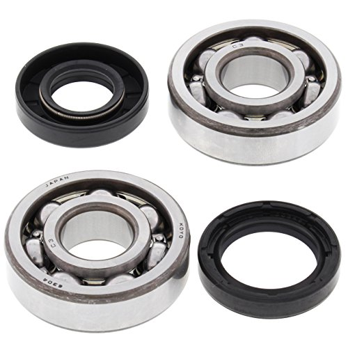 All Balls Racing Crank Bearing and Seal Kit 24-1063 Compatible With/Replacement For Yamaha DT100 1974-1983, MX100 1974-1975 1979-1983
