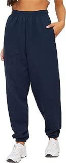 Women's High Rise Cropped Slim Fit Training Pants High Elastic Waist Straight Leg Sweatpants Joggers