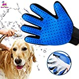 Pink Left Hand 1 PC Silicone Pet Brush Glove Deshedding Gentle Efficient Grooming Cat Glove Supplies Pet Glove Dog Accessories Supplies