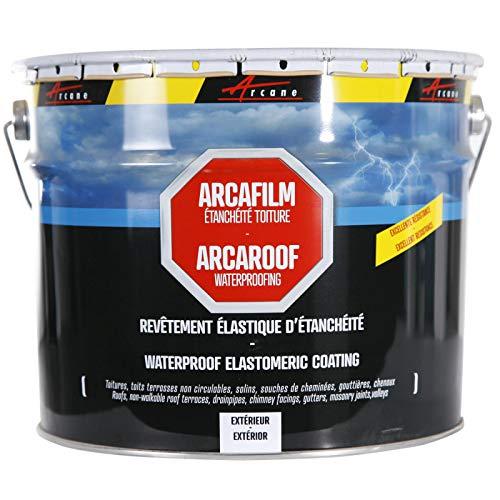 Arcafilm-Vernice impermeabilizzante per tetti, anti-infiltrazioni, anti-crepe, per riparazione materiali spezzati, bianco