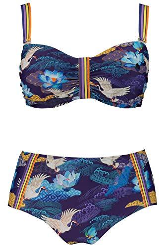 Ulla Popken Damen große Größen Bikini Multicolor 54C 727793 90-54C