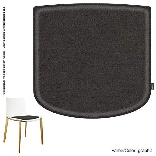 Feltd. Eco Filz Kissen geeignet für Arper Catifa 46-29 Farben - optional inkl. Antirutsch und gepolstert! (Graphit)