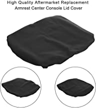 OCPTY Auto Armrest Center Console Lid Skin Cover + Base for 1993-2016 Dodge Ram Pickup Trucks(Black)