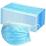 Medicom 2072 SafeMask Tailormade Masks, High Barrier, Blue (Pack of 50)