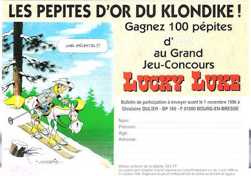 Lucky Luke - Les Pépites d'or du Klondike - grand jeu-concours (bulletin de participation)
