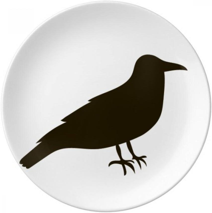 Black Crow Cute Animal Portrayal Plate Decorative Dessert Porcel Beauty [Alternative dealer] products