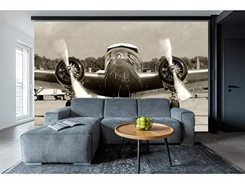 Fotomural Vinilo para Pared Avión Antiguo| Fotomural para Paredes | Mural | Vinilo Decorativo | Varias Medidas 200 x 150 cm | Decoración comedores, Salones, Habitaciones.