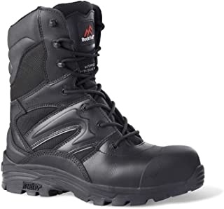 Rock Fall RF4500 Titanium High Leg Waterproof Safety Boot with Side Zip Size 4