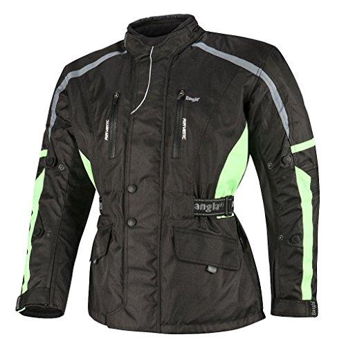 Bangla Motorradjacke Tourenjacke Motorrad Jacke Textil Cordura 1876 Schwarz Grün 6 XL