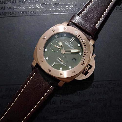 JFfactory New Men Automatik Mechanisch Saphir Edelstahl Braun Leder Bronze Special Special Edition 1950 Uhr 47mm