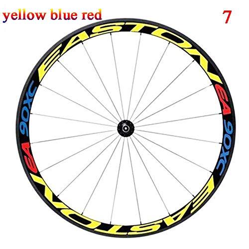 DACCU Pegatinas Reflectantes para Llantas de Bicicleta, 26 Unidades, 27,5 mm, Accesorios para Bicicleta