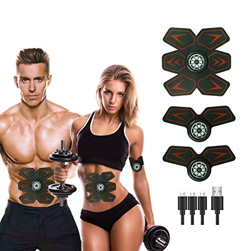 MOORAY SPORT Abs Stimulator Muscle Trainer EMS Abs Trainer Abdominal Ultimate Abs Trainer Men Women Work Out Ads Power Abs Training Gear Workout Equipment Portable Trainer Abs Belt
