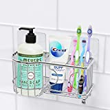 SimpleHouseware Toothbrush Holder Adhesive Wall Mounted Bathroom...