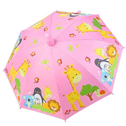 Paraguas para niños Princesa Paraguas niño jardín de Infantes bebé Conjunto Impermeable Mango Largo Estudiantes de Escuela Primaria automático Soleado Dos usos