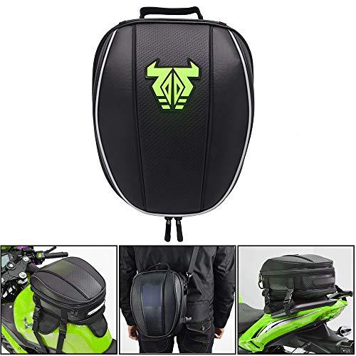 Motorrad-Hecktasche - Wasserdichte Gepäcktasche Sitztasche Motorrad-Satteltaschen Multifunktionale Fahrradtasche Sportrucksack-Grün