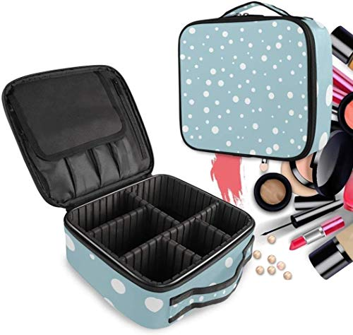 Cosmétique HZYDD Blue Sea Spot Make Up Bag Trousse de Toilette Zipper Sacs de Maquillage Organisateur Poche for Compartiment Femmes Filles Gratuit