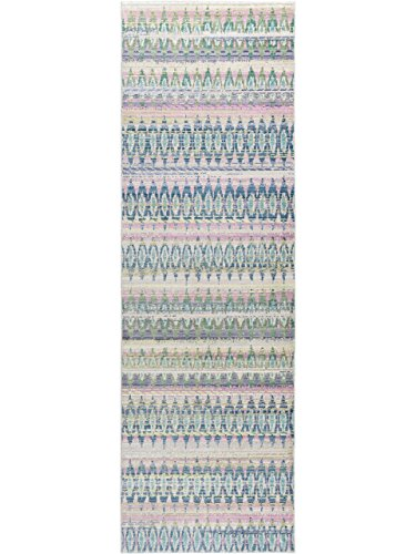 benuta Alfombra de Pasillo visconti, Azul, 70 x 240 cm, Moderna Alfombra para salón y Dormitorio