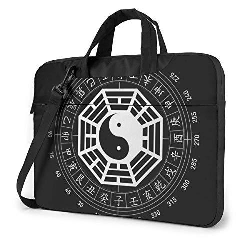 Bolsa de Hombro para computadora portátil con Estuche para computadora portátil, Yin Yang, Ocho diagramas, Funda para computadora, maletín de Negocios
