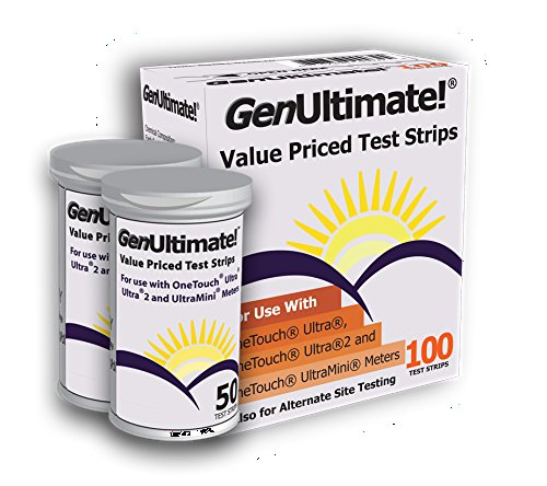 GenUltimate100 Test Strips for Use with OneTouch Ultra Meters