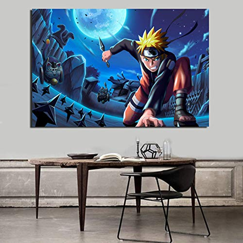 tzxdbh Cartoon Poster Vintage Canvas Schilderij Print Woonkamer Woondecoratie Moderne muur Art Olie Schilderij Posters Foto's HD With Frame 12x18inch