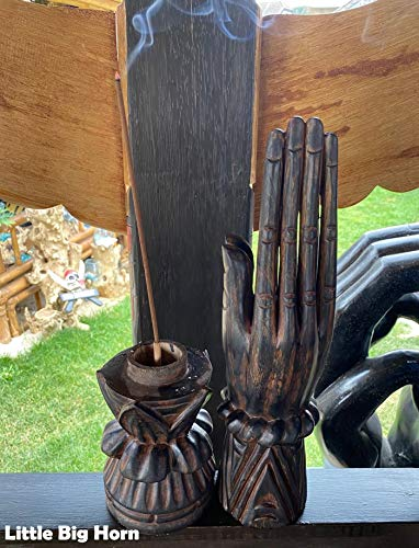 Little-Big-Horn - Soporte para varillas de incienso (0,53 m, madera)