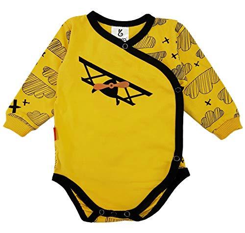 Bexa - Baby Strampler Baby-Body Unisex, Flieger-Sammlung (0-1 Monate, Gelb)