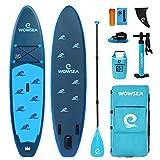 WOWSEA Bionics B2 Tabla de paddle surf hinchable AN25 para principiantes, 320 cm, 15 cm de grosor, hasta 150 kg