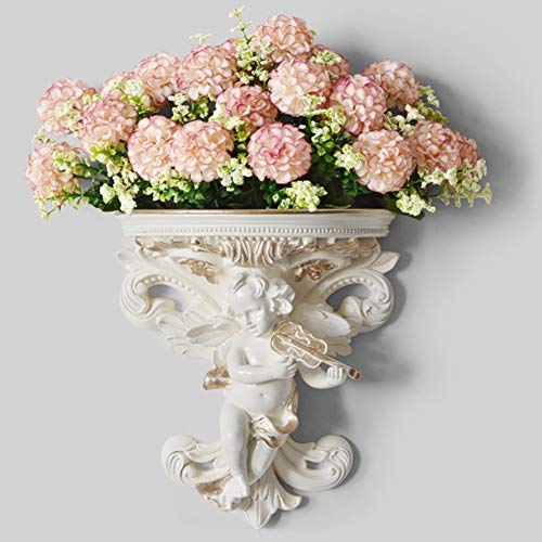 vap26 Wandbehang Blumentopf Cupid Angel Plaster Corbel Regal Rokoko Art Garden Home Decoration
