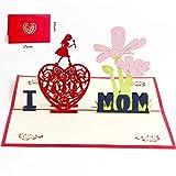 Deesospro® día de la Madre tarjeta,Tarjeta de cumpleaños para mamá especial, Tarjeta de felicitación pop-up 3D con hermoso papel cortado, regalo para el cumpleaños de mamá, sobre incluido
