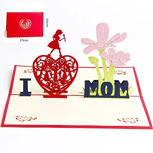 Deesospro® Muttertagskarte,Papier Spiritz Muttertag,Geburtstagskarte für Mama Special, 3D Pop-up-Grußkarte mit schönen Papier-Cut, Bestes Geschenk für Mama Geburtstag, inklusive Umschlag